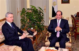 الرئيس السيسي يؤكد أهمية التعامل مع ظاهرة تدفقات اللاجئين وكافة أشكال النزوح البشرى