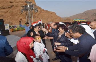 وزيرة الثقافة مع أبناء الوديان بين جبال جنوب سيناء | صور