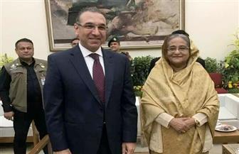 السفير المصري في دكا يلتقي رئيسة وزراء بنجلاديش