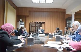 لجنة المنشآت بجامعة بني سويف تناقش استكمال المباني| صور