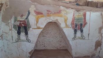 الكشف عن مقبرتين أثريتين بمنطقة آثار بئر الشغالة| صور