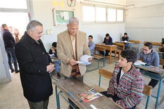 محافظ المنوفية يتفقد عددا من لجان امتحانات الشهادة الإعدادية بشبين الكوم| صور