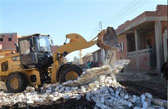 إزالة تعديات على أملاك الدولة والري والصرف في سوهاج