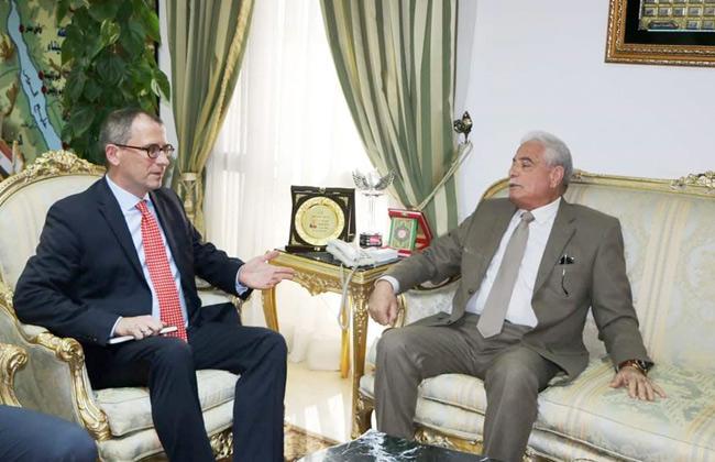 محافظ جنوب سيناء يستقبل سفير بولندا بالقاهرة لبحث تنشيط السياحة   صور -