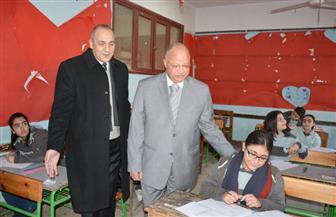 محافظ القاهرة يتفقد امتحانات الشهادة الإعدادية | صور