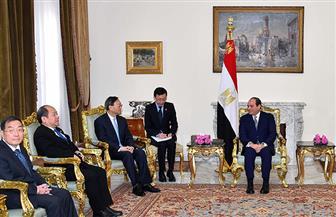 السيسي لممثل الرئيس الصيني: جهود الإصلاح الاقتصادي تتكامل مع أهداف مبادرة الحزام والطريق