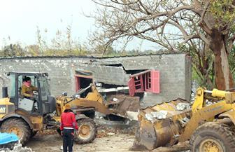 محافظ كفر الشيخ يتابع حملة إزالة التعديات على أملاك الدولة ونهر النيل والزراعية