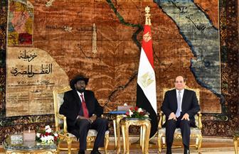 الرئيس السيسي وسيلفا كير يؤكدان أهمية دعم وتعزيز التعاون والتنسيق بين البلدين | صور