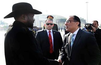 رئيس الوزراء يودّع الرئيس سيلفاكير بعد انتهاء زيارته للقاهرة