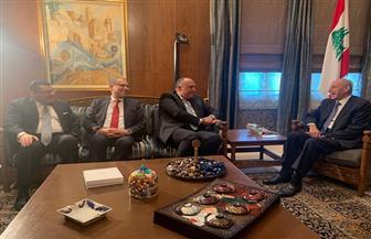 وزير الخارجية يلتقي برئيس مجلس النواب اللبناني.. ويشيد بقوة ومتانة العلاقات الثنائية