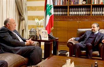 سامح شكرى يؤكد لسعد الحريري  موقف مصر الداعم لأمن واستقرار لبنان وضرورة تشكيل حكومة وفاق لبنانية|صور