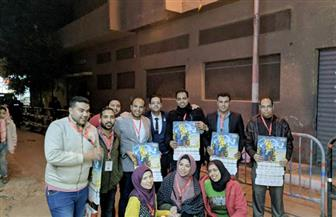 """""""شباب المصريين الأحرار"""" بالسويس تشارك الأقباط احتفال عيد الغطاس"""
