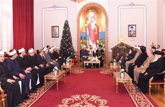 نص كلمة البابا تواضروس خلال استقباله شيخ الأزهر ووزير الأوقاف والمفتي للتهنئة بالعيد  صور