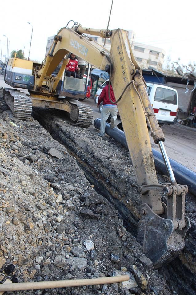 رئيس شركة مياه الشرب والصرف الصحى يتفقد المشروعات الجارية بالمحلة وسمنود