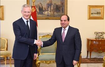 الرئيس السيسي يستقبل وزير الاقتصاد والمالية الفرنسي | صور