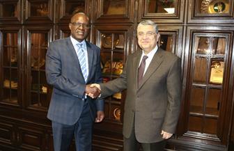 شاكر يستقبل وزير الطاقة الناميبي على هامش اجتماع المنتدى الإفريقي   صور