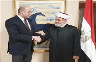 سفير مصر في كييف يستقبل مفتي أوكرانيا | صور