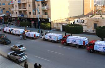 """قافلة مساعدات """"مستقبل وطن"""" إلى مرسى مطروح ضمن مبادرة الرئيس السيسي """"حياة كريمة""""   صور"""