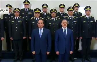 الرئيس السيسي يصل إلى قاعة احتفال عيد الشرطة الـ67