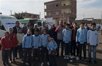 الكشف على 1100 مواطن في قافلة طبية في قرية البصارطة بدمياط  صور