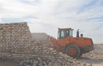 إزالة 19 حالة تعد على أملاك الدولة بديرمواس في المنيا