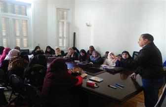 تدريب 50 فتاة لافتتاح عدد من فصول محو الأمية بقرى فرشوط ودشنا   صور