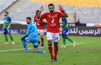 الشحات يحرز أول أهدافه مع الأهلي في شباك مصر المقاصة