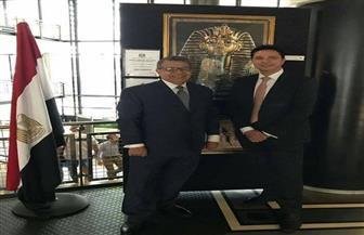 سفير مصر لدى نيوزيلندا يفتتح أول معرض للبرديات بالعاصمة ويلنجتون |صور