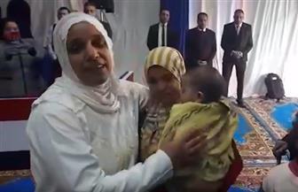 العفو الرئاسي يعيد أما لبناتها بعد زوال كابوس السجن أربع سنوات | فيديو