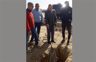 نائب محافظ القاهرة يتفقد إصلاح خط غاز بجسر السويس |صور