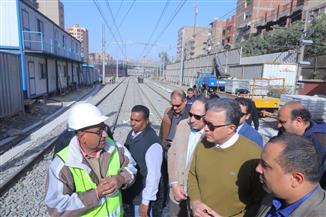 وزير النقل يتابع أعمال تطوير محطة المرج الجديدة بتكلفة 600 مليون جنيه  صور