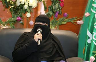 حياة الدبيان تلقي قصائدها في الجناح السعودي بمعرض القاهرة للكتاب