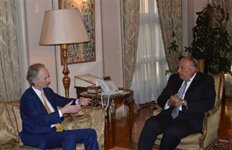 وزير الخارجية يستقبل المبعوث الخاص الجديد للسكرتير العام للأمم المتحدة إلى سوريا
