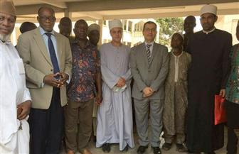 سفير مصر بتوجو يزور مدرسة أسجاما الإسلامية ويلتقى مبعوثي الأزهر بها | صور