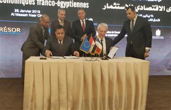 وزير النقل يشهد توقيع مذكرة تفاهم بين هيئة السكك الحديدية وشركة فرنسية   صور