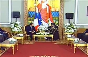 البابا تواضروس للرئيس الفرنسي ماكرون: قوة المصريين فى وحدتهم الوطنية