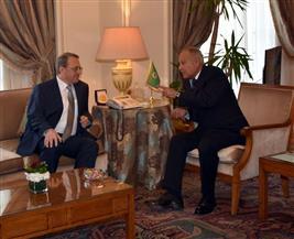 أبو الغيط  يبحث مع مبعوث بوتين ترتيبات وزاري عربي روسي أبريل المقبل