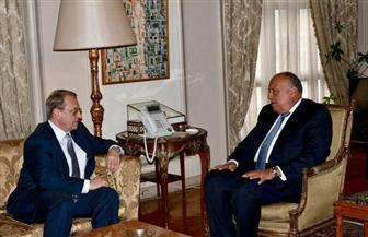 وزير الخارجية يستقبل مندوب الرئيس الروسي للشرق الأوسط