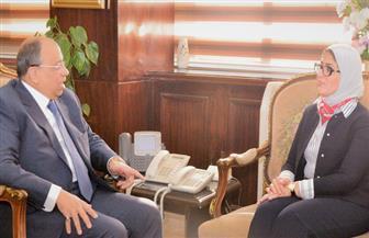 وزير التنمية المحلية يلتقي وزيرة الصحة لمناقشة سبل التعاون
