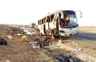 إصابة 10 عمال في انقلاب أتوبيس بطريق وادي حجول بالسويس
