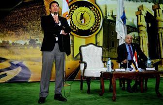 وزير الرياضة يلتقي شباب الجامعات المصرية بمعهد إعداد القادة بحلوان |صور
