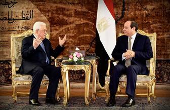 الرئيس السيسي يستقبل نظيره الفلسطيني بقصر الاتحادية