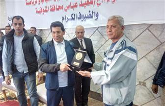 محافظ المنوفية ووزير الرياضة يشهدان الملتقي الشبابي باستاد شبين الكوم   صور