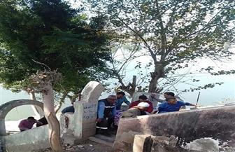 انتشال جثة مريض نفسى من كورنيش النيل بمدينة كفرالزيات | صور