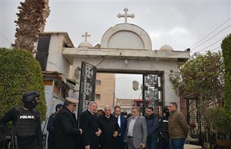 محافظ الدقهلية ومدير الأمن يتفقدان تأمينات الكنائس   صور