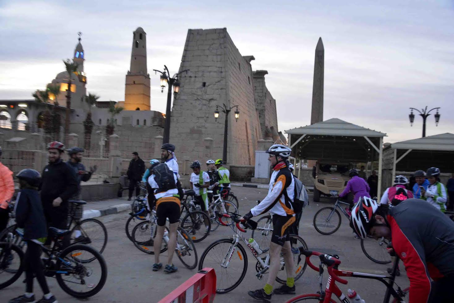 الأقصر تستقبل درجات ضمن رحلة للمبادرة العالمية لركوب الدراجات