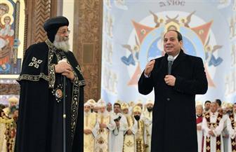 الرئيس السيسي: يتم بناء 14 مدينة جديدة تضم مساجد وكنائس.. وعلى المصريين الحفاظ على بلدهم