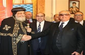 """""""أبوشقة"""" يهنئ البابا تواضروس باحتفالات عيد الميلاد المجيد.. ويؤكد: مصر نسيج واحد بين المسلمين والأقباط"""