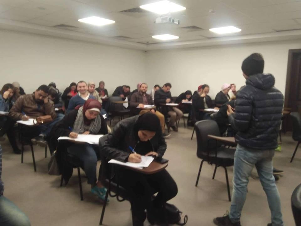 لجنة تطوير المهنة بالصحفيين تعقد امتحانات الدفعة الأولى من  المتقدمين للقيد بالنقابة   صور -