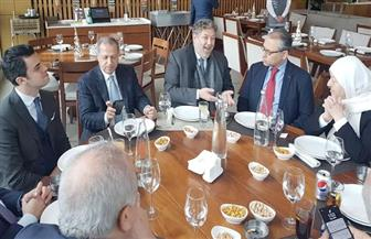 سفير القاهرة في بيروت يلتقي رئيس وأعضاء لجنة الصداقة البرلمانية اللبنانية مع مصر